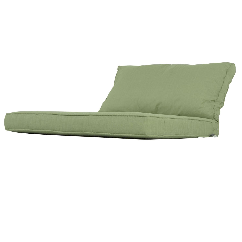 Lounge Kissen Sitz Und Rücken 70x70 Carré Basic Grün