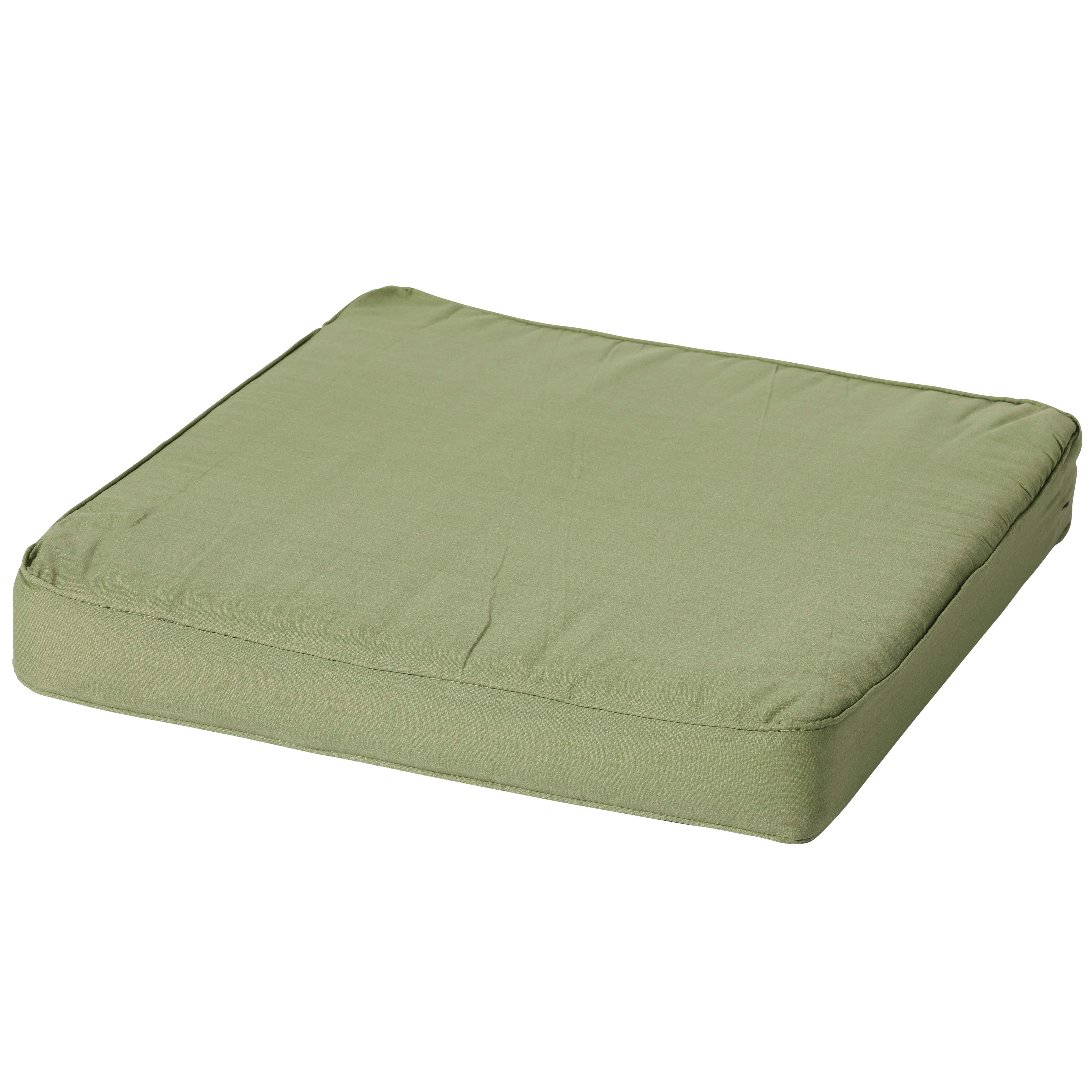 Loungekissen 60x60cm - Carre Basic grün