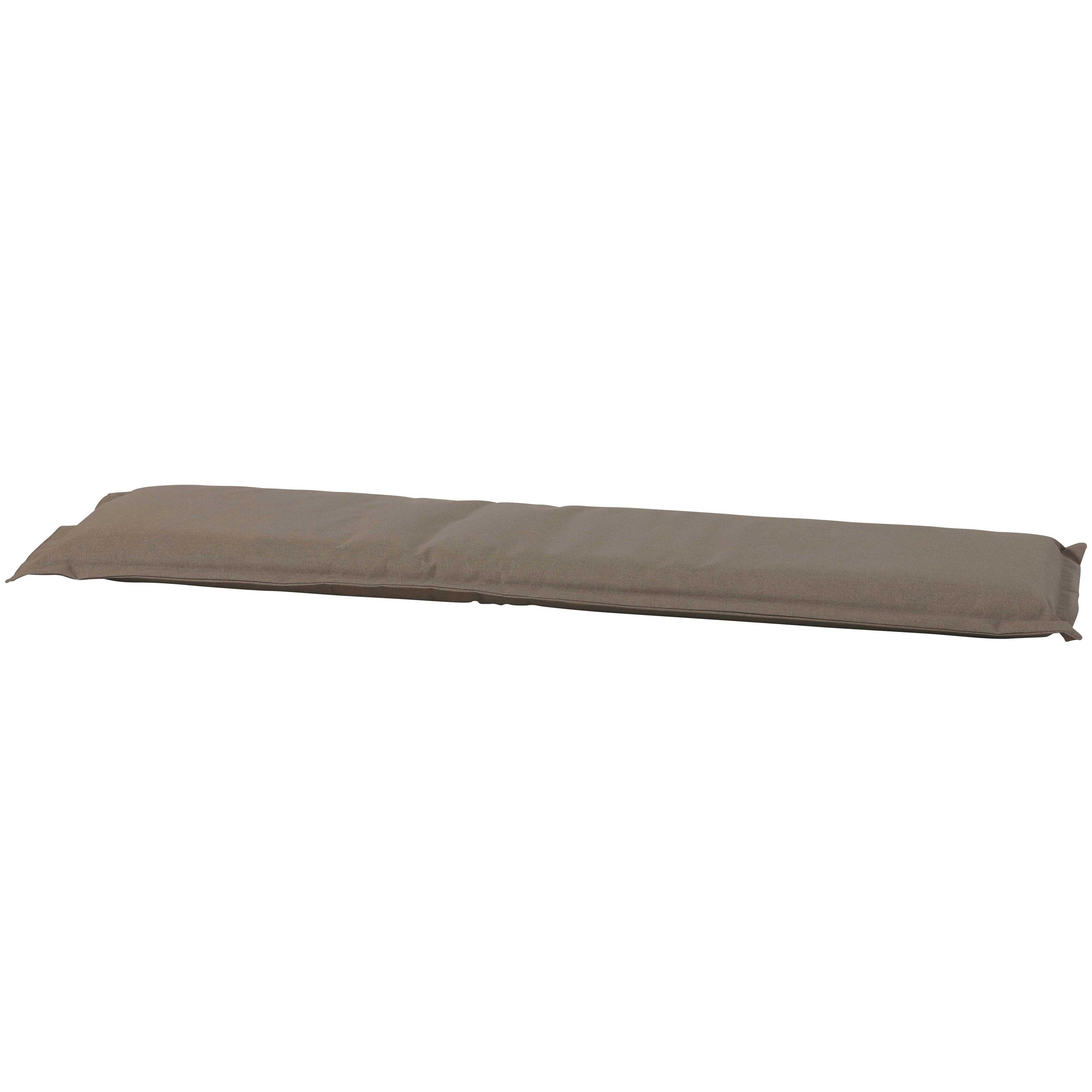 Auflage Bank 120cm mit Volant - Outdoor Oxford taupe