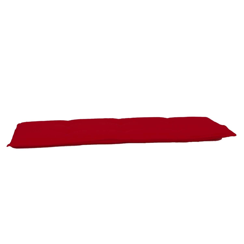 Auflage Bank 140cm - Pedro Rot (wasserabweisend)