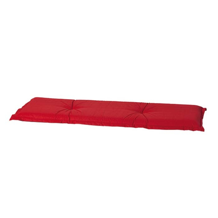 Auflage Bank 120cm - Basic rot