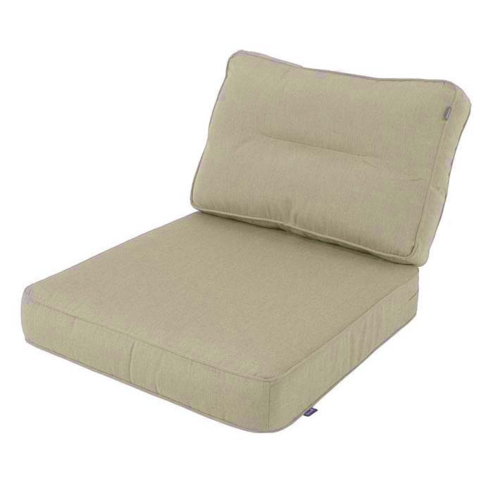 Loungekissen Sitz und Rücken 60x60 Carré - Havana Jute