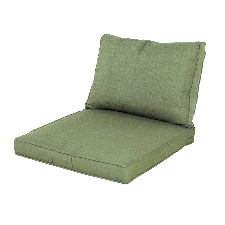Loungekissen Sitz und Rücken 60x60 Carré - Panama sage