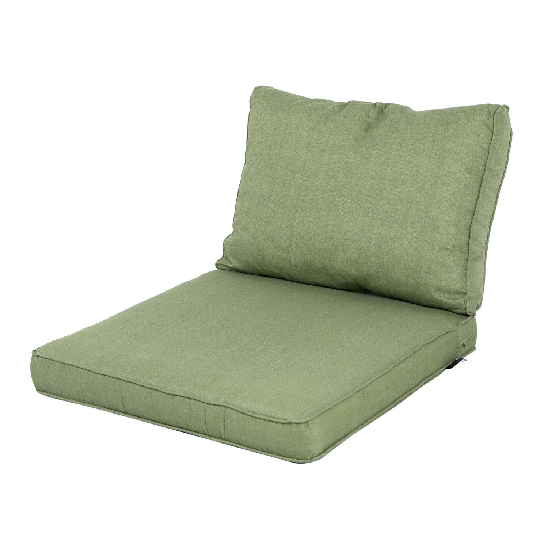 Loungekissen Sitz und Rücken 60x60 Carré - Basic grün