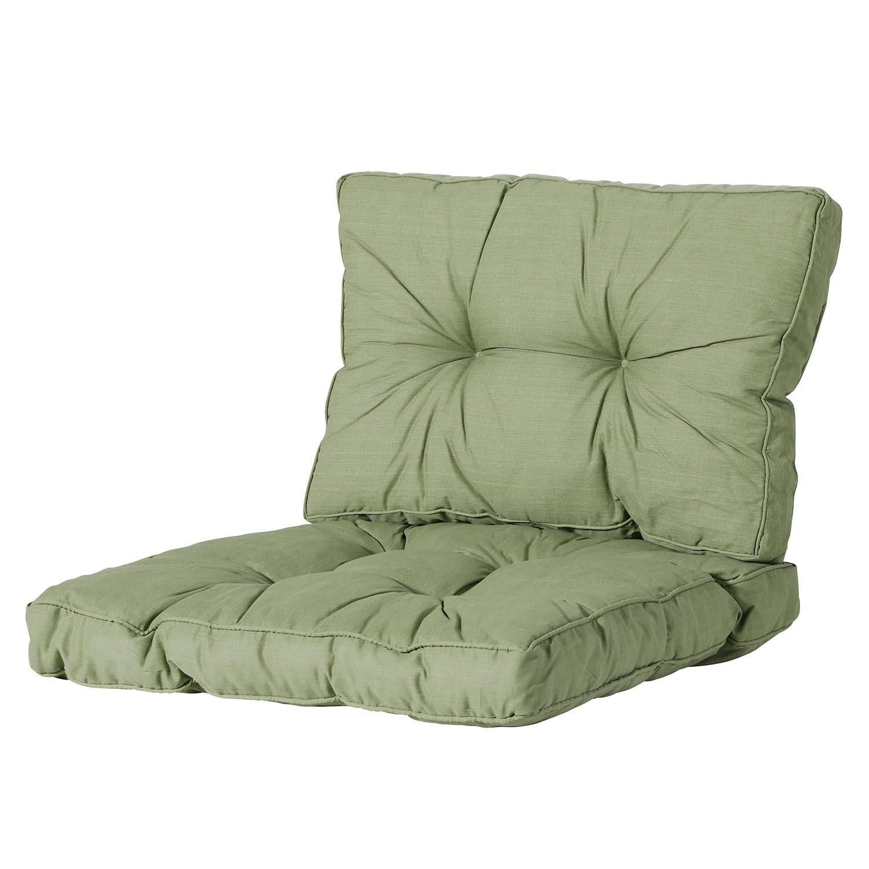 Loungekissen Sitz und Rücken 60x60cm Florance - Basic grün
