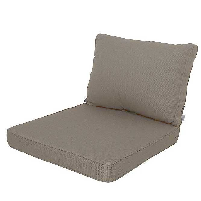 Loungekissen Sitz und Rücken 73x73 Carré - Rib Leber