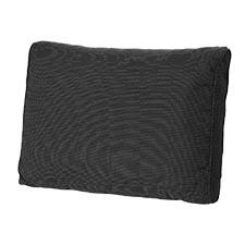 Loungekissen Rücken 60x40cm - Carré Rib schwarz