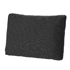Loungekissen Rücken 73x40cm - Carré Rib schwarz