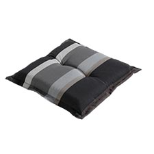 Hockerauflage 50x50cm - Stripe grau
