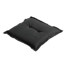 Hockerauflage 50x50cm - Rib schwarz