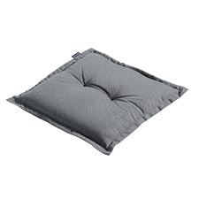 Hockerauflage 50x50cm - Rib grau