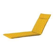Gartenliegenauflage 190x60cm - Outdoor graphic yellow