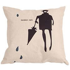 Zierkissen 45x45cm - Gentleman umbrella