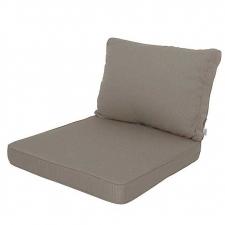 Loungekissen Sitz und Rücken 60x60cm - Carré Rib Leber
