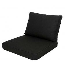 Loungekissen Sitz und Rücken 60x60cm - Carré Rib Schwarz
