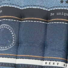 Hockerauflage 50x50cm - Denim blau