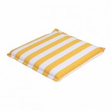 Hockerauflage 50x50cm - Carlos gelb (wasserabweisend)