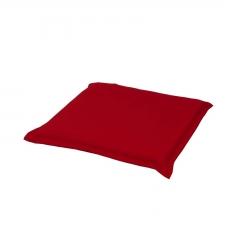 Hockerauflage 50x50cm - Pedro Rot (wasserabweisend)