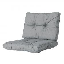 Loungekissen Sitz und Rücken 70x70 Florance - Basic grau