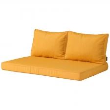palettenkissen sitz und rücken Carré (120x80cm) - Panama golden glow