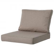 Loungekissen premium Sitz und Rücken 60x60 Carré - Outdoor Manchester taupe
