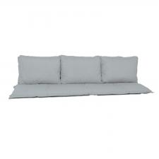 Bankkissen Sitz und Rücken 180cm Carré (180x50cm) - Basic grau