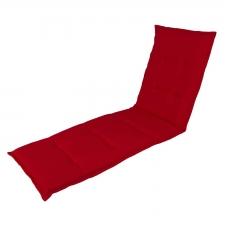 Gartenliegenauflage - Pedro rot (wasserabweisend)