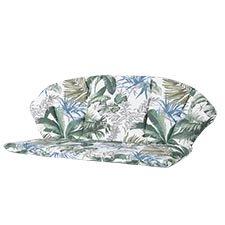 Royal Garden Elegance Bankauflage - Outdoor Bliss blau