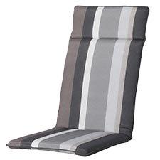 Auflage hochlehner universal - Stripe grau