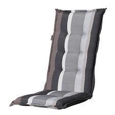 Auflage hochlehner - Stripe grau