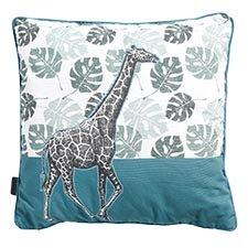 Zierkissen 50x50cm - Giraffe Sea blau