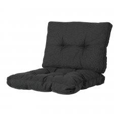 Loungekissen Sitz und Rücken 60x60cm Florance - Rib Schwarz