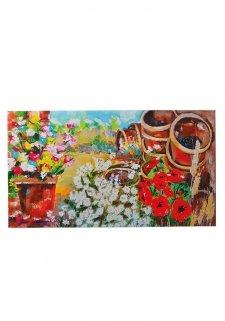 Buitenschilderij - Flower Garden 140x78cm