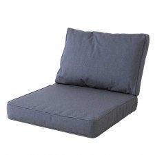 Loungekissen premium Sitz und Rücken 60x60 Carré - Outdoor Manchester denim grau