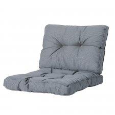 Loungekissen Sitz und Rücken 70x70 Florance - Rib grau