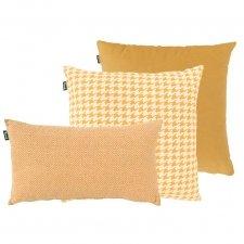 Zierkissenset - Cuba gelb mit Poule gelb 50x50cm und Jesse gelb 50x30cm
