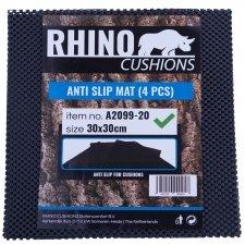 Antirutschmatte schwarz 30x30cm Rhino (Set von 4 Stück)