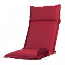 Auflage Hochlehner - Ribera rot (wasserabweisend und abnehmbar)